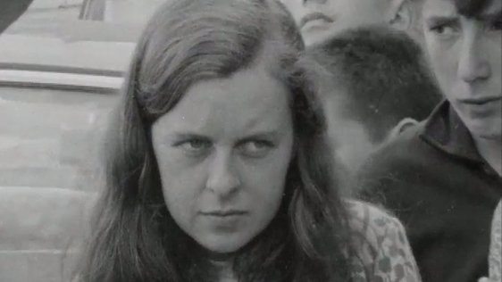 Bernadette Devlin pictured on RTÉ News on 18 August 1969.