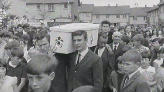 Funeral of 26-year-old Protestant, Herbert Roy, on 18 August, 1969.