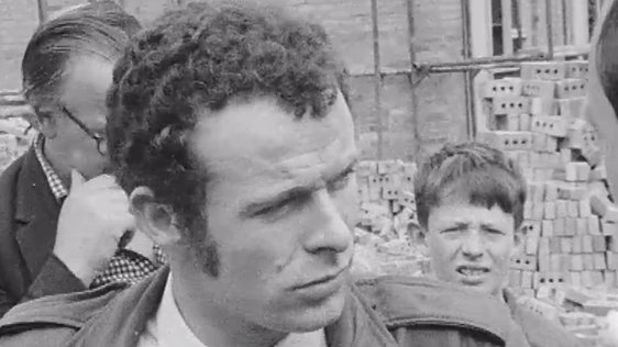 Eamonn McCann talks to RTÉ New about Radio Free Derry on 18 August, 1969.