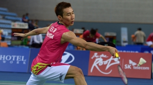 Malaysia's Lee Chong Wei in action at the 2014 Asian Games