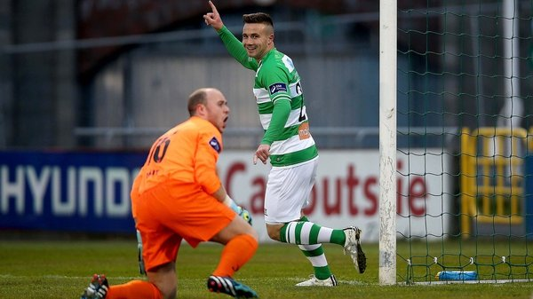 Mikey Drennan opened the scoring for Shamrock Rovers