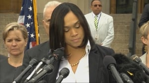 State Attorney Marilyn Mosby speaking today at a press conference