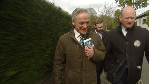 Richard Bruton is seen out canvassing