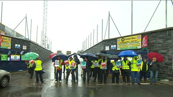 SIPTU and the NBRU members are on strike for a second day