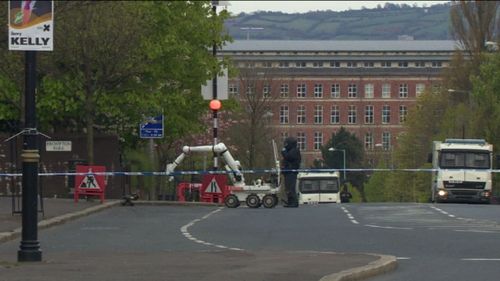 A bomb threat was phoned in to a local priest yesterday