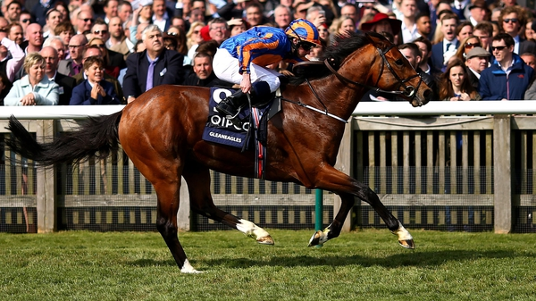 Ryan Moore rides Gleneagles to win The Quipco 2000 Guineas Stakes