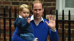 Prince William brings Prince George to meet his sister