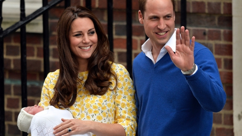 Britain's Duchess of Cambridge and Duke of Cambridge introduce their new baby girl