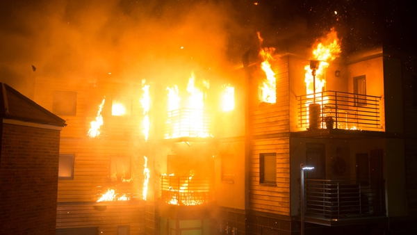 Victoria Court goes up in flames on Corrie