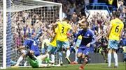 Eden Hazard scored after a second attempt