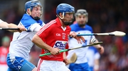 Waterford's Austin Gleeson tackles Rob O'Shea of Cork