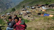 Villagers are homeless after their houses are destroyed
