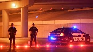 Garland police blocked a street following the gun attack