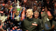 Stuart Bingham celebrates the biggest win of his career