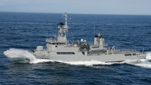 LÉ Eithne is continuing to carry out a sea surface search this afternoon off the Mayo Coast
