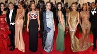 (L-R) Amal Alamuddin, George Clooney, Rosie Huntington-Whiteley, Jennifer Lawrence, Emily Blunt, Kendall Jenner, Kate Hudson, Beyoncé, Jay Z