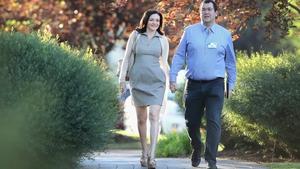 The late David Goldberg with his wife Facebook's Sheryl Sandberg