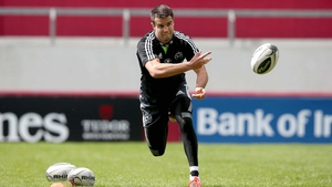 Conor Murray in training ahead of his team's clash with Ulster