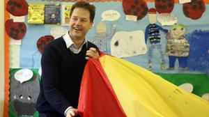 Nick Clegg criticised David Cameron and Ed Miliband