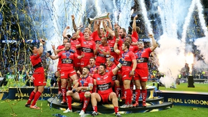 Toulon celebrate victory over Clermont Auvergne in the European Rugby Champions Cup final at Twickenham