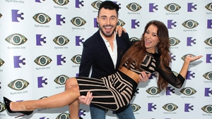 Rylan Clark and Irish model Hazel O'Sullivan at the launch of Big Brother in Dublin today
