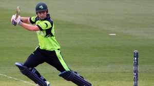 Ed Joyce in action for Ireland at the 2015 Cricket World Cup against Zimbabwe
