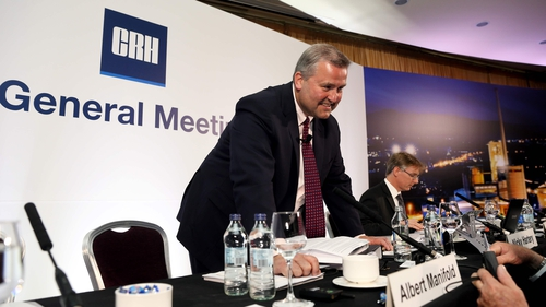 CRH's chief executive Albert Manifold