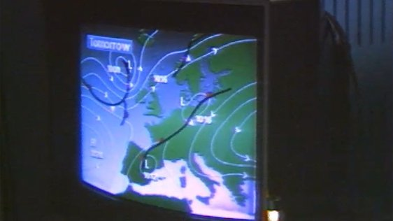 RTÉ studio for weather forecasts introduced in 1988