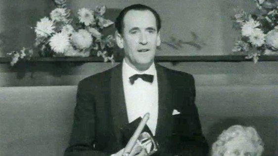 Charles Mitchel receives a Jacob's Award in 1962.