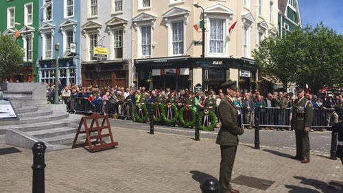 Ceremonies were held in Co Cork to mark the 100th anniversary of the sinking of the Lusitania