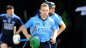 Johnny McCaffrey leads Dublin out in last year's All-Ireland quarter-final against Tipperary