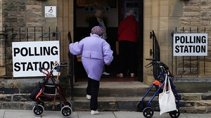 A woman walks into a polling station in Saltburn
