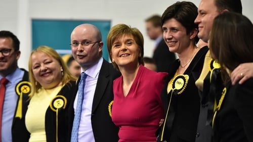 An exit poll predicted that Nicola Sturgeon's party could win all but one of the 59 Scottish constituencies