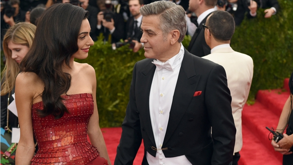 Amal Alamuddin and George Clooney at the 2015 MET Gala