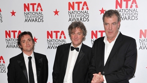 (L-R) Richard Hammond, James May and Jeremy Clarkson - Reunited with producer Andy Wilman for new Amazon show The Grand Tour