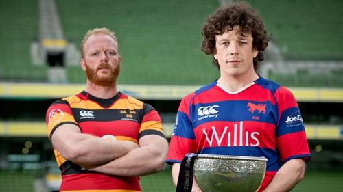 Club captains Rob Boucher of Lansdowne and Sam Cronin of Clontarf