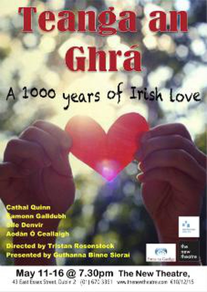 """Teanga an Ghrá – 1,000 Years of Irish Love"" by the Guthanna Binne Síoraí theatre company"