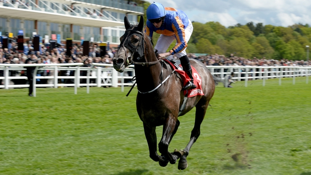 Kilimanjaro ridden by Ryan Moore goes on to win the betfred.com Derby Trial Stakes