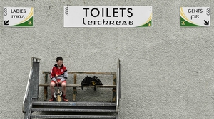 Jack Darcy watches the Nicky Rackard Cup gamne between Tyrone vs Armagh at Carrickmore, Tyrone