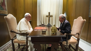 The Vatican said the meeting was strictly private and not a state visit