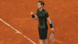 Andy Murray celebrates his victory over rival Rafa Nadal