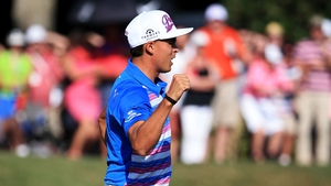 Rickie Fowler took victory in a sudden-death play-off