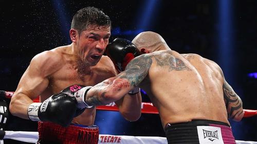 Sergio Martinez (left) in action against Miguel Cotto