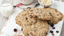 Oatmeal, Cranberry and White Chocolate Cookies