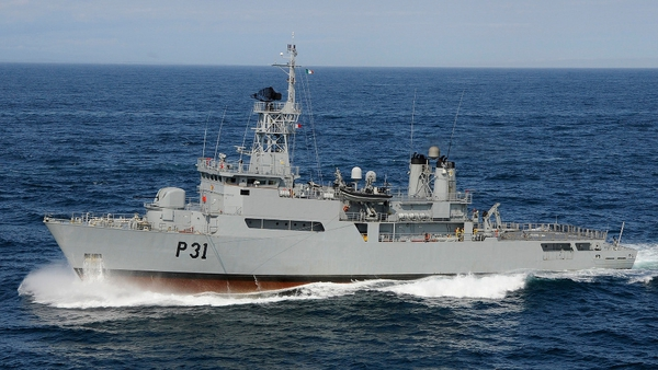 The LÉ Eithne is expected to sail on Saturday