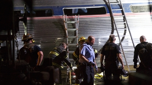 The train derailed on a curved stretch of track