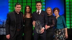 Jack Grealish pictured here with his father, picking up the Ireland Under-21 player of the year award