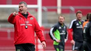 Anthony Foley leads Munster training at Thomond Park on Tuesday