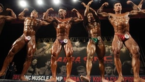 Contestants pose during the NABBA WFF Korea Championship in Seoul, South Korea