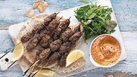 Lamb Kebabs - These kebabs are an excellent dish to serve to the whole family or a gang of hungry teenagers. As everything gets cooked under the grill, there's the added bonus of very little washing up to do afterwards.